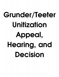 Grunder / Teeter Unitization